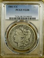1881-CC PCGS VG08 MORGAN DOLLAR