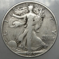 1945 S WALKING LIBERTY HALF DOLLAR4 F FOR YOUR COLLECTION