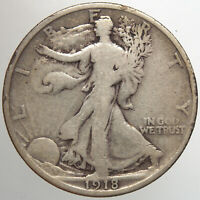 1918 P WALKING LIBERTY HALF DOLLAR15 VG FOR YOUR COLLECTION