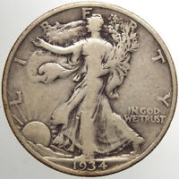 1934 S WALKING LIBERTY HALF DOLLAR15 F FOR YOUR COLLECTION