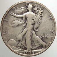 1935 D WALKING LIBERTY HALF DOLLAR15 F FOR YOUR COLLECTION