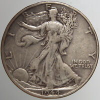 1944 S WALKING LIBERTY HALF DOLLAR15 VF  FOR YOUR COLLECTION