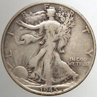 1945 S WALKING LIBERTY HALF DOLLAR15 F  FOR YOUR COLLECTION