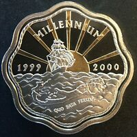 BERMUDA   SILVER TWO DOLLAR COIN   2000   PROOF   MILLENNIUM COIN