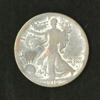 1916-S WALKING LIBERTY HALF DOLLAR. FIRST YEAR KEY DATE OBVERSE ALBUM TONED COIN