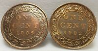 2 CANADA EDWARD VII   LARGE 1 CENT 1902 95  COPPER PENNY COI