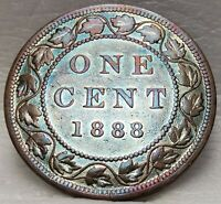 CANADA VICTORIA LARGE 1 CENT 1888 95  COPPER CANADIAN PENNY