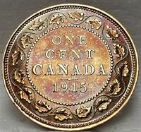 CANADA GEORGE V LARGE 1 CENT 1915 95  COPPER CANADIAN PENNY