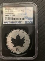 2018 CANADA $5 MAPLE LEAF ANTELOPE PRIVY NGC PF69 RP  NO SPO