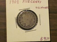 1908 LIBERTY HEAD NICKEL / GREAT ADDITION FOR A COLLECTION