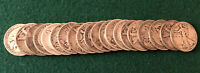 ROLL OF 1933 S WALKING LIBERTY HALF DOLLARS. 90 SILVER. LOT OF 20 COINS.