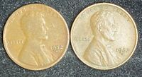 1932 D 2 LINCOLN WHEAT CENT PENNIES- SHIPS FREE