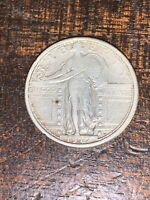 1917 S TYPE 1 STANDING LIBERTY QUARTER VF GREAT DETAILS  TYPE COIN
