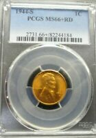 1944-S  LINCOLN WHEAT CENT - PCGS MINT STATE 66 RED