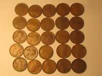 ROLL 1914 LINCOLN WHEAT CENTS PENNY IN CIRCULATED CONDITION 50 COINS