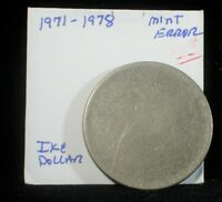 N/D  1971 78 MINT ERROR BLANK EISENHOWER DOLLAR  C687