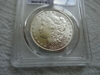SILVER 1884-CC MORGAN CERTIFIED PCGS MINT STATE 62 CLEAR FIELDS NO HARD MARKS NEW SLAB