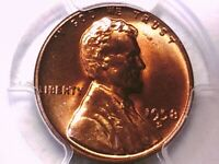 1958 D LINCOLN WHEAT CENT PCGS MINT STATE 66 RD 32880730