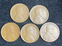1915 D-1919 D LINCOLN WHEAT CENT SET- SHIPS FREE 2