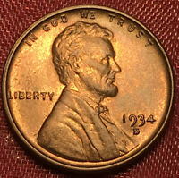 1934 D UNCIRCULATED LINCOLN CENT