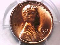 1958 D LINCOLN WHEAT CENT PCGS MINT STATE 66 RD 32880732 TONED