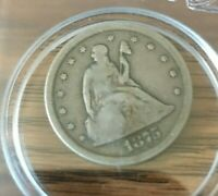 1875 S TWENTY CENT PIECE  GOOD TO V GOOD CONDITION