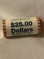 JAMES MADISON UNCIRCULATED PRESIDENTIAL DOLLAR COIN ROLL HEADS TAILS