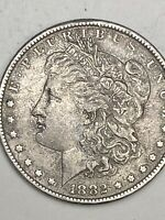 1882 $1 MORGAN SILVER DOLLAR US COIN. ESTATE FROM PRIVATE COLLECTION.
