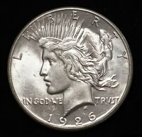 1926-S PEACE DOLLAR SAN FRANCISCO MINT U.S. SILVER COIN RAW LUSTER BU CONDITION