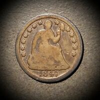 1847 LIBERTY SEATED HALF DIME H10
