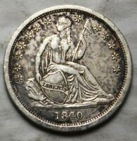UNITED STATES 1840 SILVER DIME,  GRADE, SEATED LIBERTY