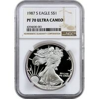 1987 S PROOF SILVER EAGLE NGC PF70 ULTRA CAMEO