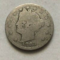 1883 LIBERTY V NICKEL WITH CENTS FIVE CENT COIN ESTATE FIND EXACT COIN SHOWN