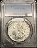 1891-O MORGAN SILVER DOLLAR PCGS MINT STATE 65BLAST WHITE