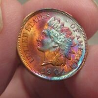 TONED UNCIRCULATED 1904 INDIAN CENT ONLY $69- MAKE A CLOSE OFFER