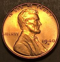 1940-S SAN FRANCISCO MINT COPPER LINCOLN WHEAT CENT GEM BU  SHARP