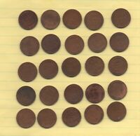 ONE HALF ROLL  25  OF WHEAT CENTS ALL 1933 D
