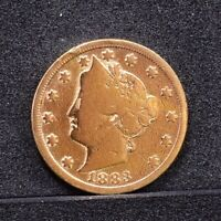 1883 LIBERTY NICKEL, NO CENTS - GOLD PLATED