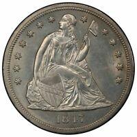 1847 $1 LIBERTY SEATED DOLLAR PCGS MINT STATE 63