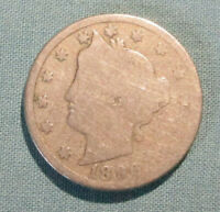 1896 LIBERTY NICKEL - U.S. 5 CENTS COIN