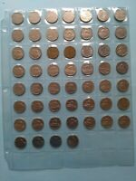 LOT OF 53 DIFFERENT CANADIAN NICKELS  5C  1922 1980 NO RESER