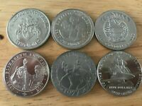 LOT OF BRITISH ROYAL COMMEMORATIVE COINS 1977 2007 OVERSEAS