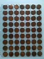 LOT OF 63 CANADIAN LARGE PENNIES  1C  NO RESERVE   LOT 13