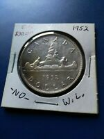 1952 CANADIAN SILVER DOLLAR  $1  NO RESERVE