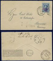 R623 HAWAII 59 COVER TO GERMANY   NOV 1893
