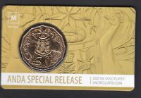2020 ANDA SPECIAL GOLD PLATED FIFTY CENT COIN