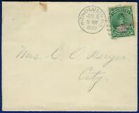 R625 HAWAII 55 LOCAL USE COVER JUN 1893   EARLY USAGE