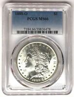 1888-O MORGAN SILVER DOLLAR PCGS MINT STATE 66  $1 39836478 WHITE AND FLASHY