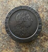 1797 TWO PENCE KING GEORGE III GREAT BRITAIN LARGE COPPER CO