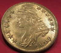 HIGH GRADE 1809 BUST HALF  LOTS OF DETAIL AND LUSTER